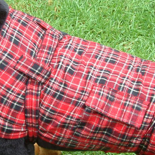 Dog Jacket Cotswoll Medium 45 Red/Black