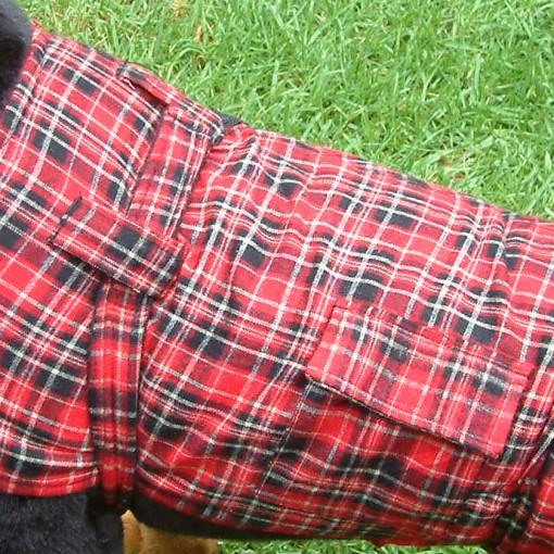 Dog Jacket Cotswoll Medium 45 Red/Black
