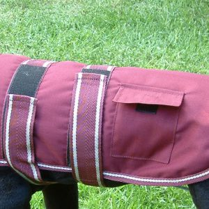 Dog Jacket Water Proof Medium 45 Maroon