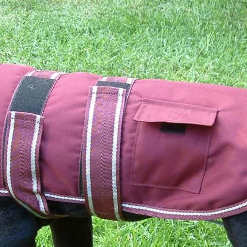 Dog Jacket Water Proof Medium 45 Maroon