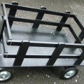 DOG PULLED WAGON BLACK