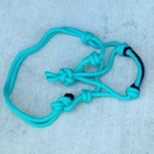 Mini Horse Rope Halter Sea Blue
